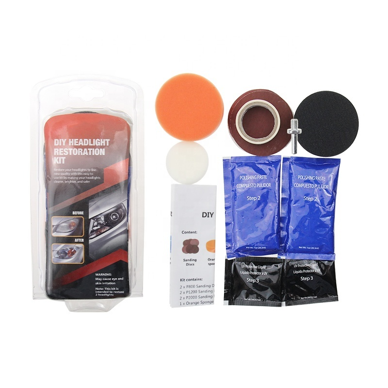Factory Price motorcycle lights washing case Car Headlight Restoration Kits