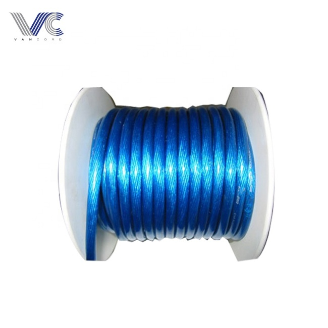 High quality low voltage copper CCA conductor PVC insulated 0ga car power cable