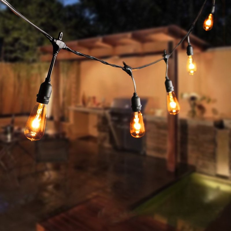 Europe E14 LED Outdoor String Lights -highGrade Waterproof, Hanging E14 type bulbs