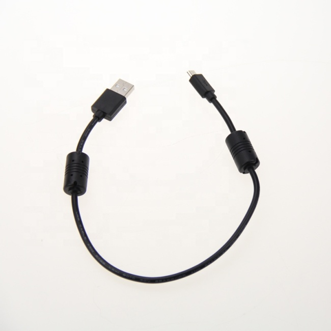 1.5Feet 3Feet 10Feet 15Feet USB 2.0 Type A Male to Micro 5pin Male 28/24AWG Cable with Ferrite Core Gold Plated