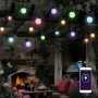 wifi smart rgb grape led bulb garden string light controlled by phone
