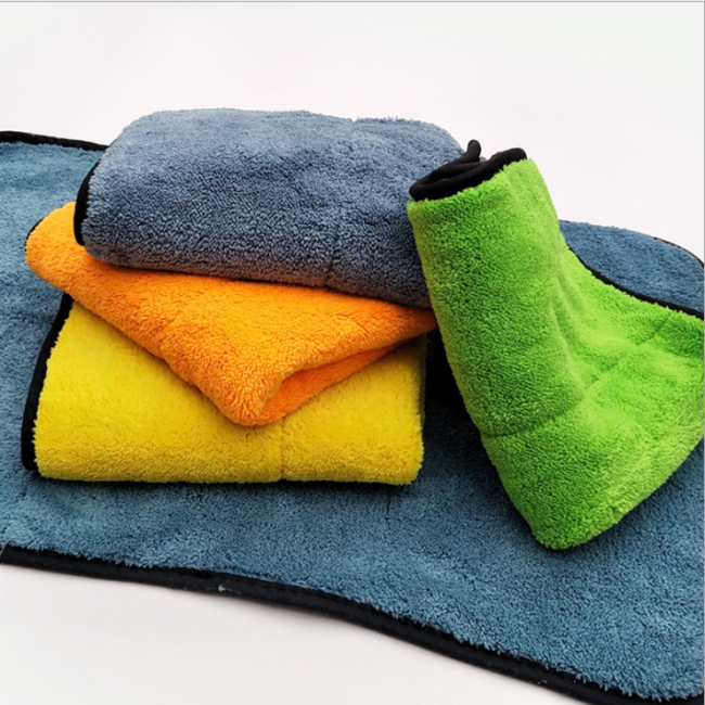 Free sample 840GSM 30*60 car cleaning cloth multicolor soft microfiber car cleaning cloth