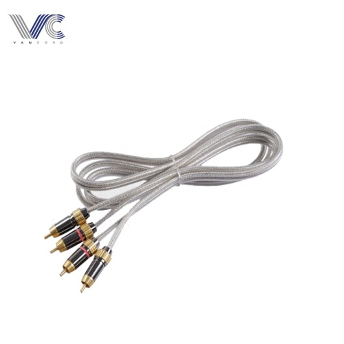 transparent color 3R-3R RCA Cable with metal plugs