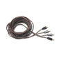 twist 2R-2R Flexible transparent black frosted RCA cable audio cable 5M single blister packing