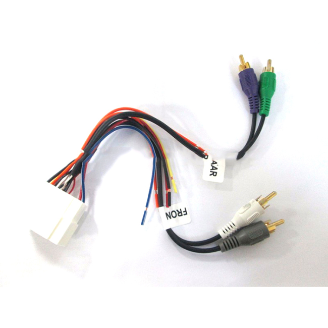Auto wiring harness Amp Integration Harness for car
