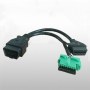 OBD2 Male to Female Y Cable Adapter Extension Cable for Peugeot OBD II 1ft