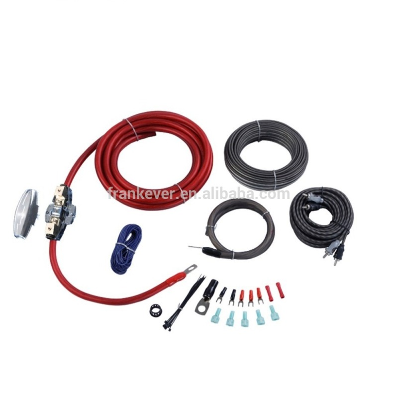 0GA Car Audio Amplifier 12v kit Subwoofer Speaker Installation Kit