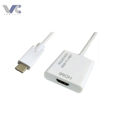Type-C 3.1/3.0/2.0 Male to HDMI Female Cable with PU/PTE Jacket Wire Adapter Cable
