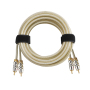 factory price metal or plastic plug car rca audio cable 2R-Stereo with fabric braiding