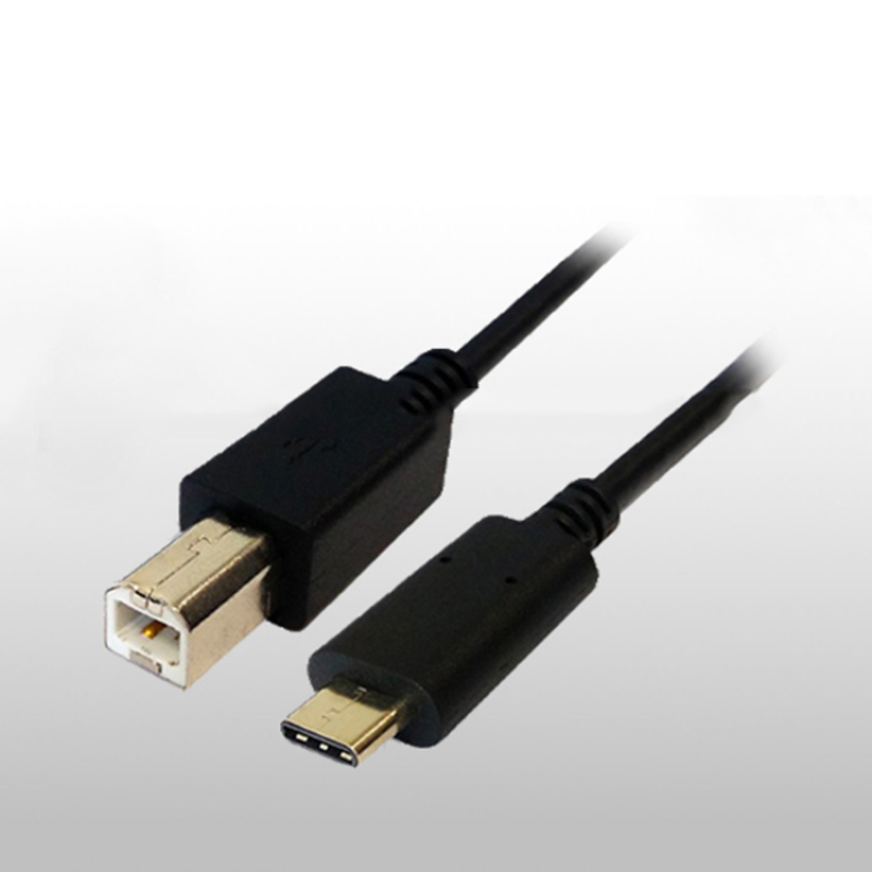 USB 3.0 Type C Male to B/M Cable, nickel plated connectors, black molding