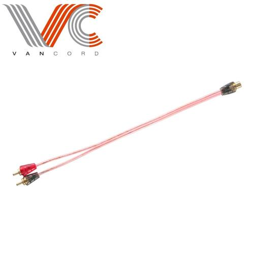 2 Male to 1 Female RCA Y Adapter Splitter Connector
