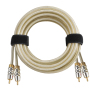 high quality car audio cable RCA cable with metal plug