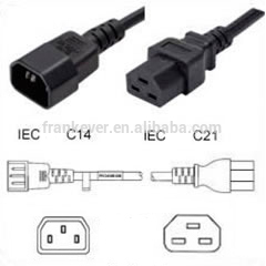 IEC C14 to IEC C21 Power Cable /adapter