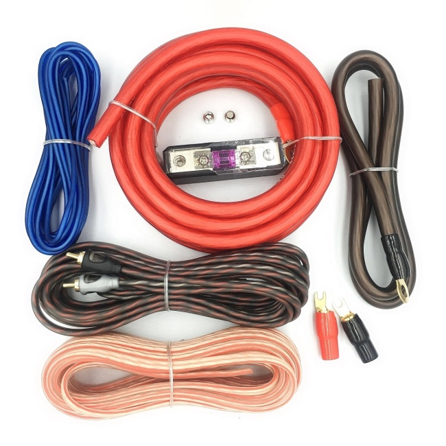 new arrival 4AWG car wiring kit  car amplifier wiring  kit car audio cable