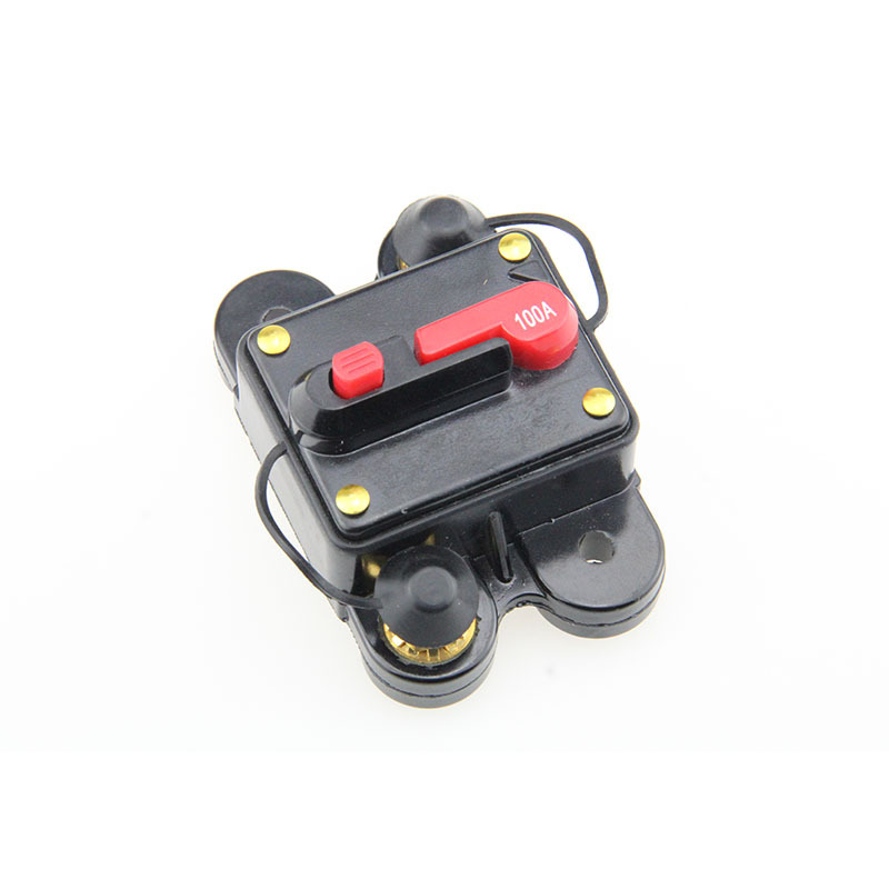12V- 48VDC Waterproof 50A 80A 100A 150A 200A 250Amp Auto Circuit Breaker with Manual Reset  Fuse Holder for Car Audio Marine