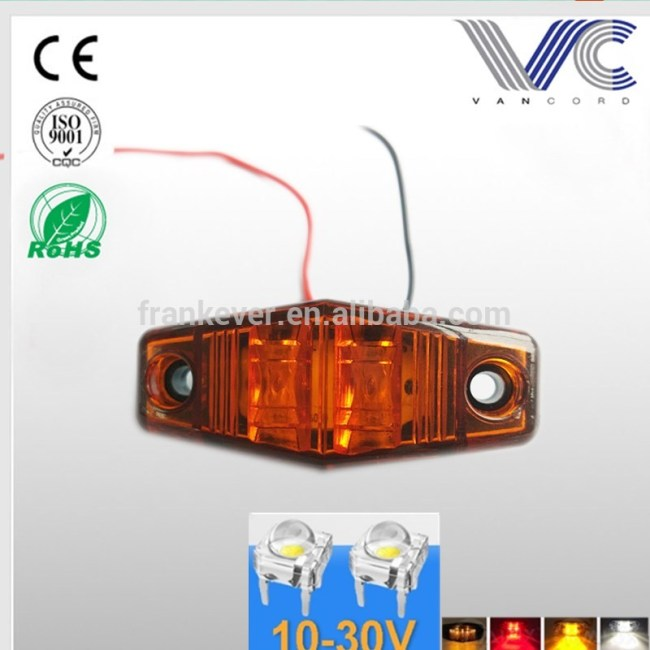 10-30V Diamond Shaped LED Piranha Truck Pickup Trailer Trailer Side Marker Light