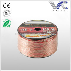 OFC 16AWG transparent car audio speaker cable speaker wire