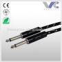 Black Tweed Woven 6.35mm Electric Guitar Bass Cable Instrument Cable