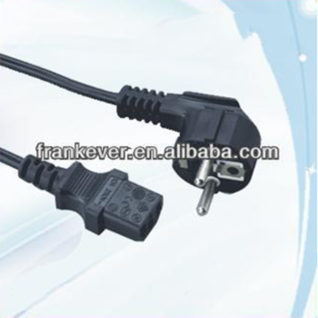 C6 2Pin Copper Korea POWER CORD with tail plug Made in China
