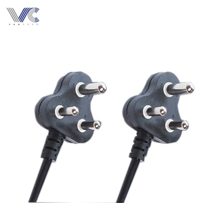 3 pin South Africa SABS power cord with plug made in China