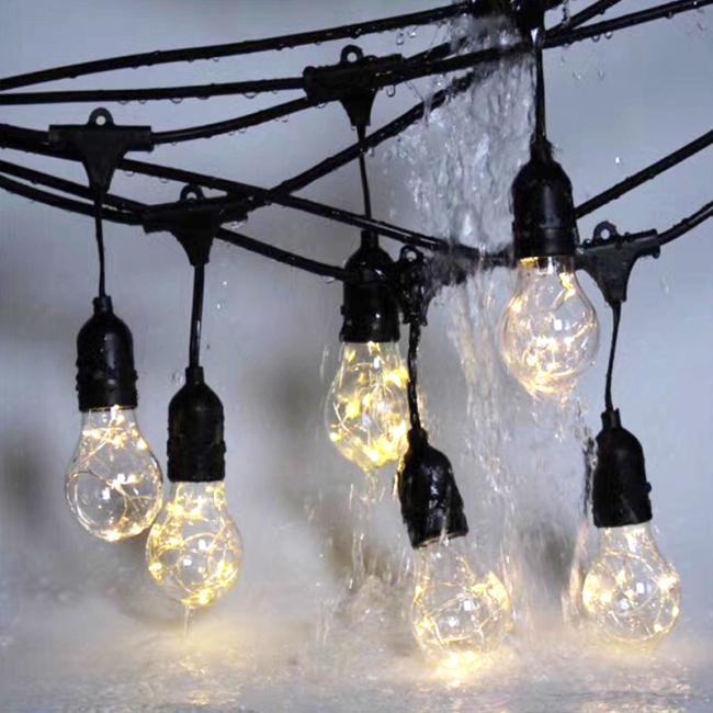 Waterproof & Weatherproof Solar String Lights for Cafe/Bistro Lighting,Garden Porch Backyard Deck Party