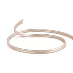 New release Pearl white metal coating effect Audio cable Speaker Cable