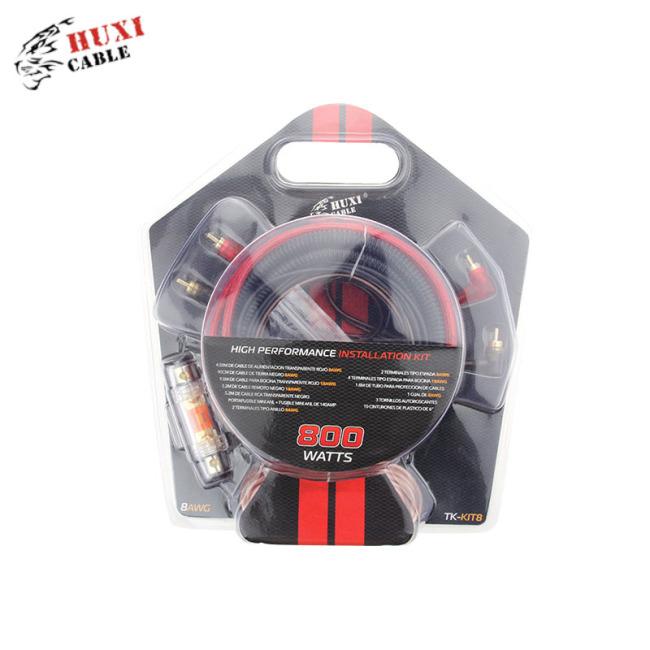 0ga transparent blue pvc auto amplifier wiring kit