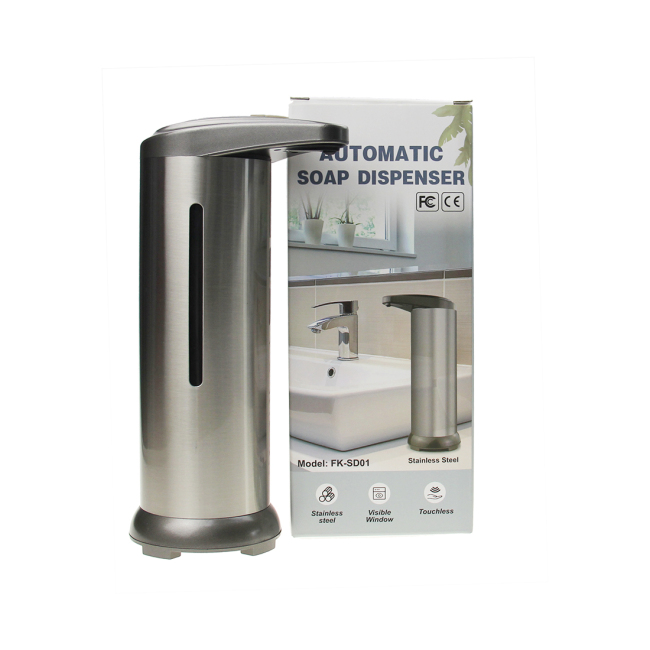 3 Level adjustable Touch-Free Stainless Steel Sensor Liquid Soap Dispenser Automatic Hand Sanitizer Dispenser