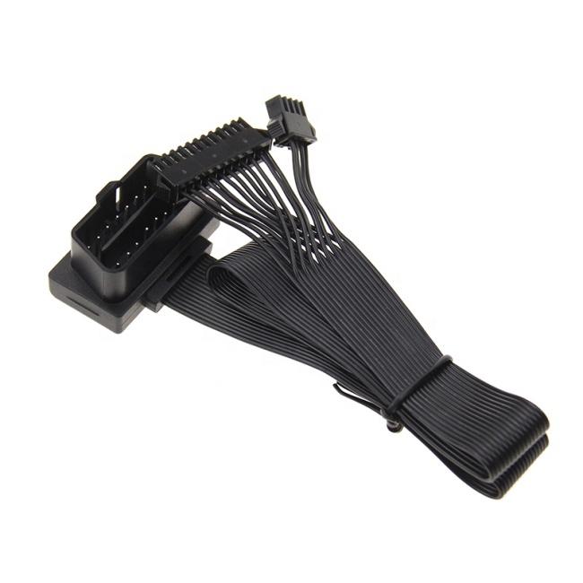 16PIN Black OBD2 - ATX/MX3.0 Female Flat Ribbon OBD2 Extension Cable