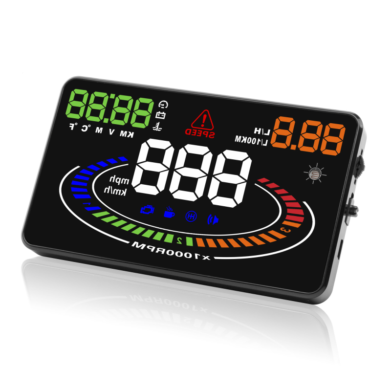Hot sale OBD2 hud digital speedometer 5.8inch car hud head up display