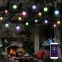Outdoor IP65  WIFI smart waterproof 12 Bulbs RGB Globe String Light for wedding Christmas Patio Garden Hotel
