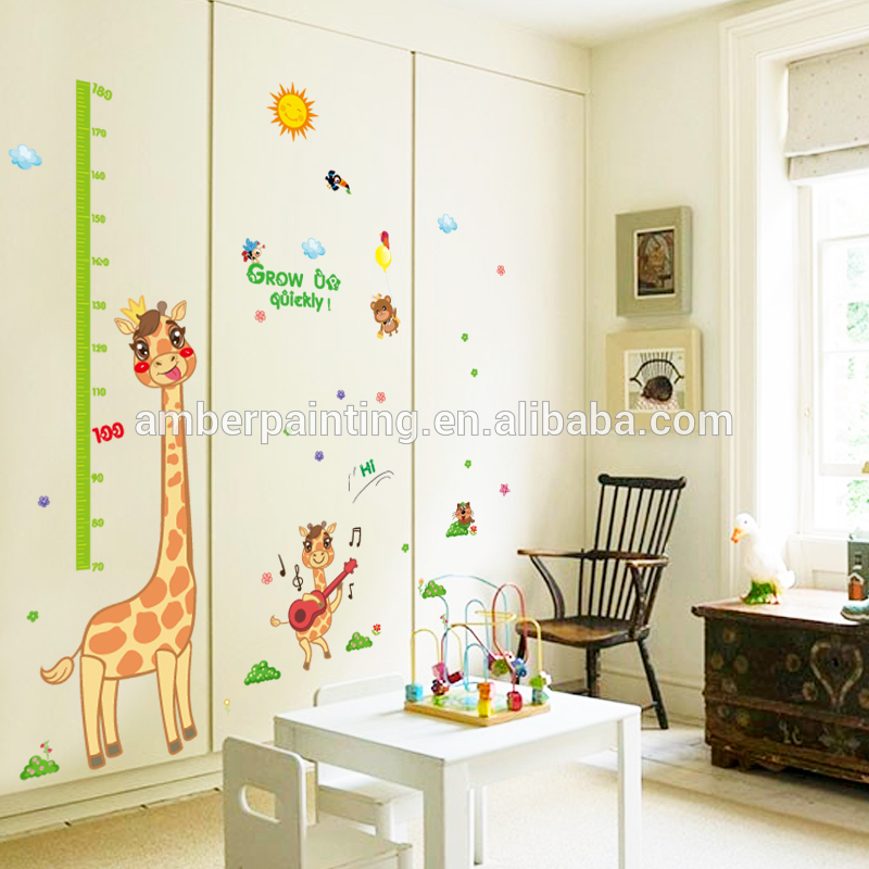 kids height growth chart giraffe decals for wall pretty