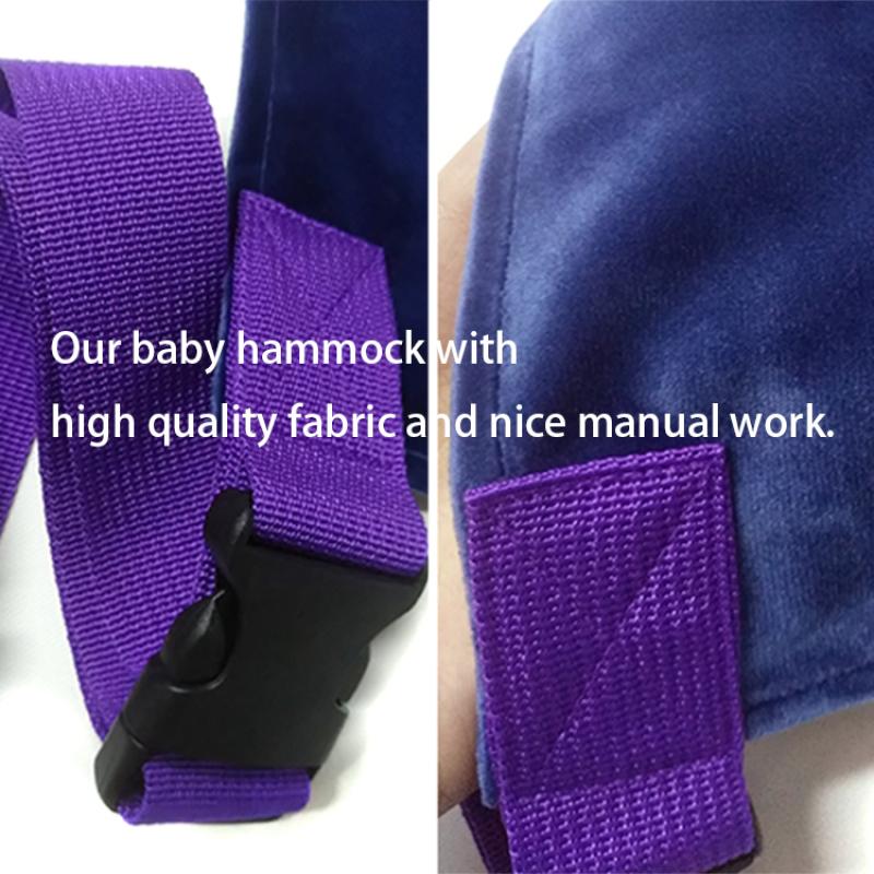 improved high quality netting newborn baby crib hammock with metal buckle