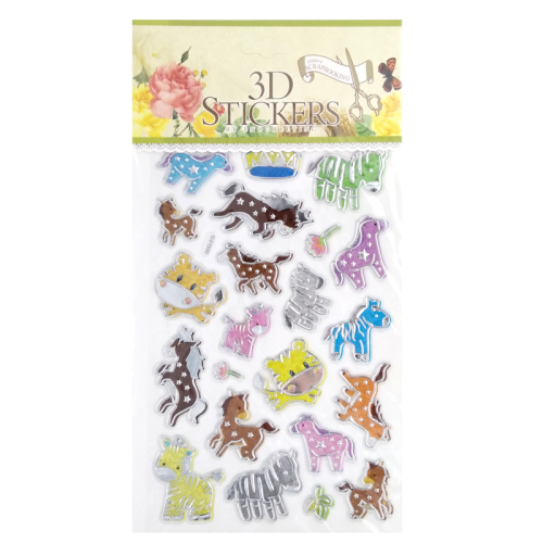 kids cheap reusable unicorn animals puffy stickers play set 2017 new design