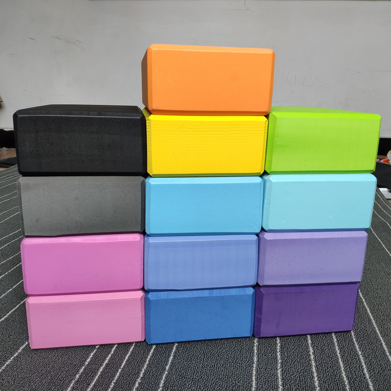 Yoga Block Top Quality Waterproof Anti Slip Double Color OEM Customized Picture EVA Logo Time Pcs Accept Weight Material Origin