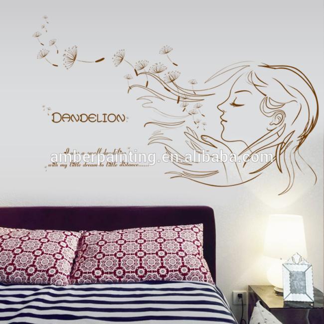 teen girl wall decals dandelion customize room decor