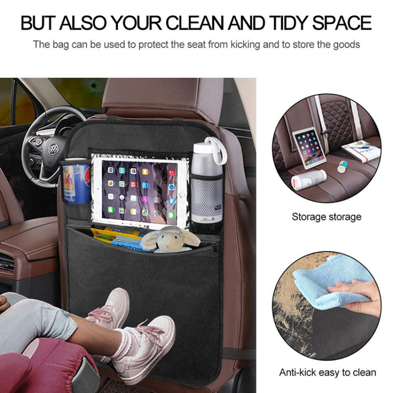 Car Back Seat Organizer With 4 Large Pocket Storage and Toys Tablet Holder