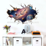 Fashion creative nature night sky planet wall decals