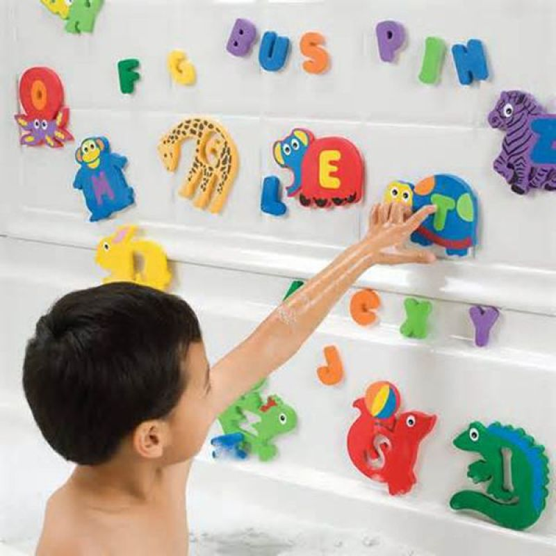 Colorful printed tub town baby foam bath toys (letter and number) kids bath toys for toddlers learn letters numbers