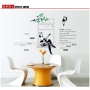 children Family bathroom wall sticker black and white violin wall stickers