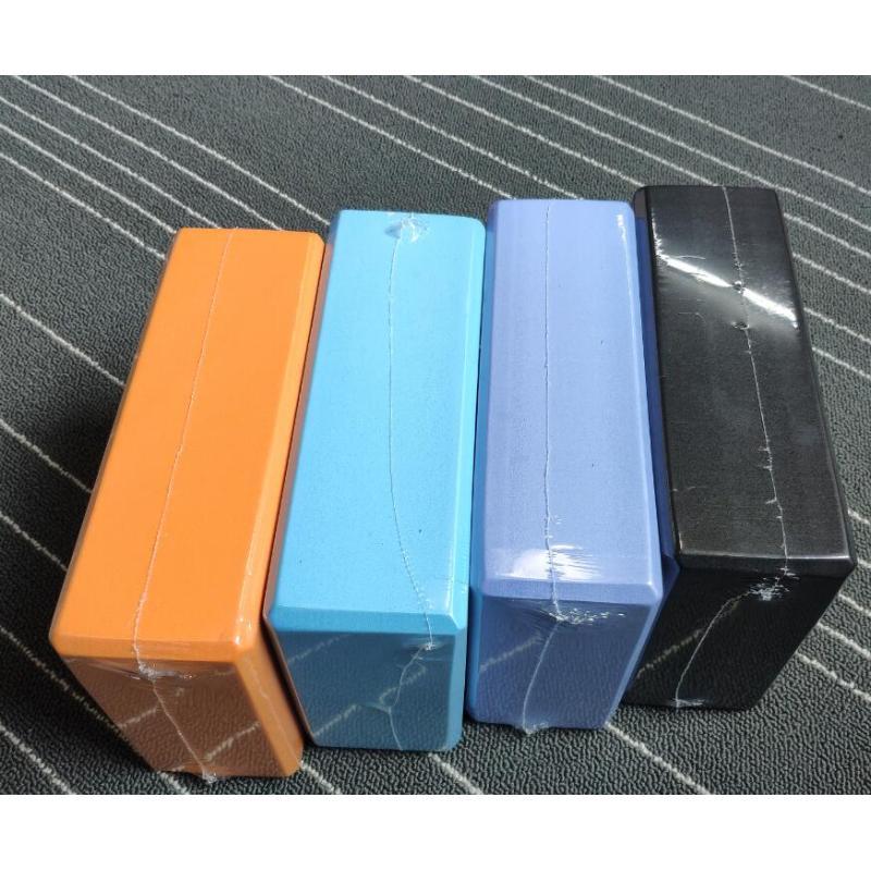 Custom High-density eco friendly pink and blue eva foam yoga blocks with logo