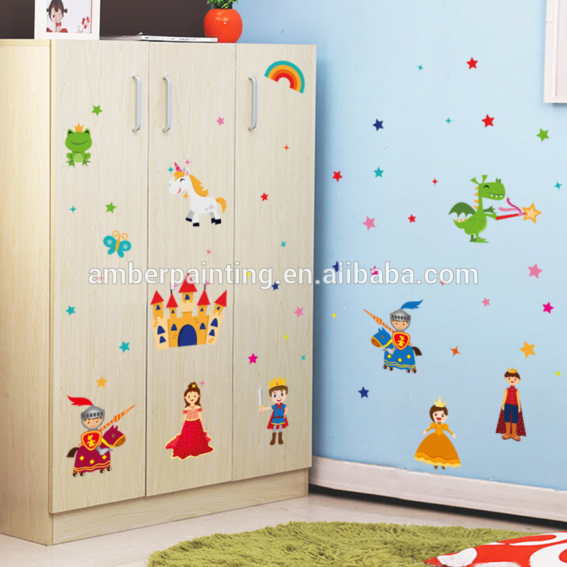 new products 2017 innovative product princess wall decals castle crown