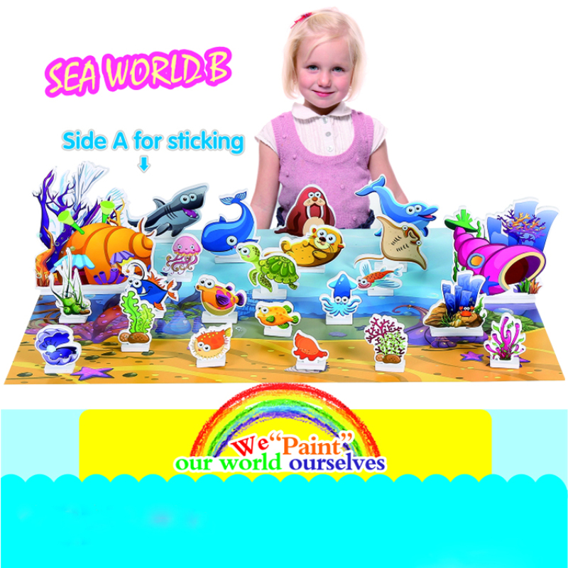 Double side DIY kit crafts 3d puzzle diy toy