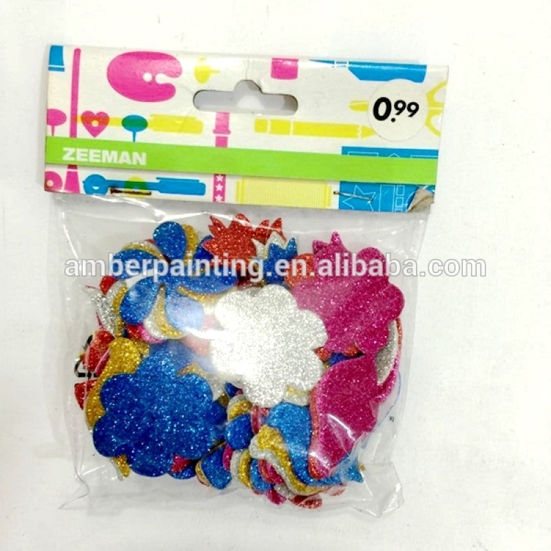 Educational colorful alphabet number eva foam sticker