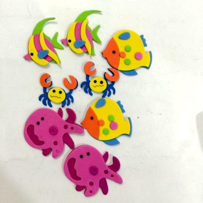 Custom design DIY sea animal 3d eva foam sticker for kids