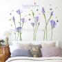 New Arrival purple flower reusable wall decals girls