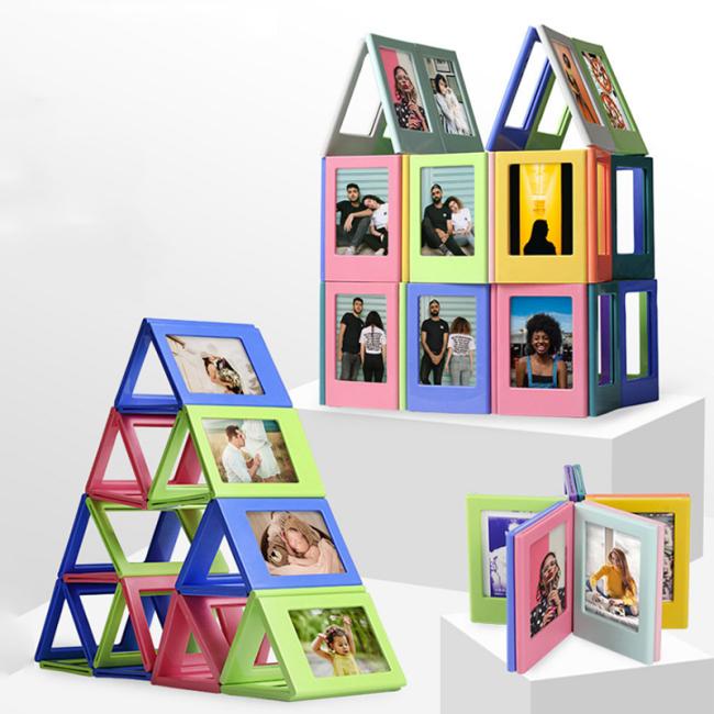 Kids unique magic mirror  refrigerator small photo frame magnet
