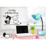 cat wall stickers large wall sticker white and black for kids