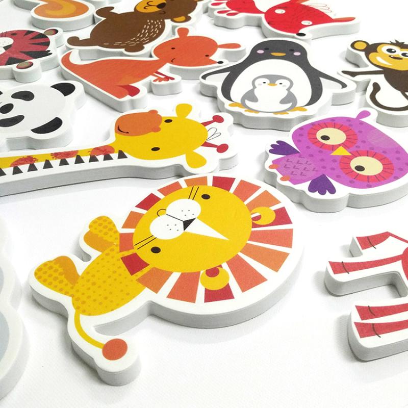 OEM EVA foam educational custom shape bath toy glowing for kids A313