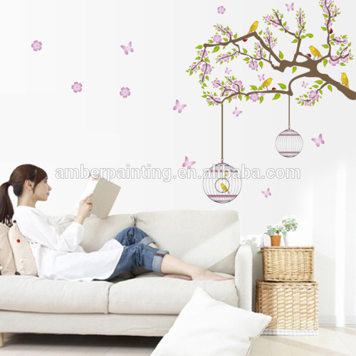 Flower Flying for Living Room Nursery Room Wall Stickers Vinyl Wall Decals Wall Decoration for Kids Room Home Decor